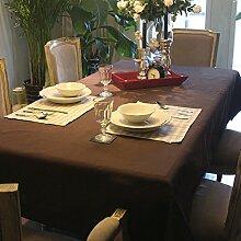 Bbdsj Europäisch Retro Tischtuch Stoff baumwolle leinen Cafe] Tischtuch Rechteck Schrankabdeckung tv Büro Tagungsraum tischdecke Kaffee-tischdecke -braun 140x180cm(55x71inch)