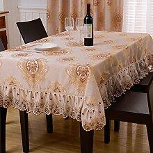 Bbdsj Home tischdecke Lace nähen Moderne familie kreative tischtuch Tee tischdecke [pflanze blumen] Mehrere farben-B 140x240cm(55x94inch)