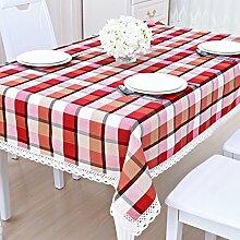 Bbdsj Home Tischdecke,Raster Tischdecke,Stoff