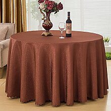 Bbdsj Runde familie tischdecke Hotel tischdecke [pflanze blumen] Muster nähen Active print Mehrere farben Kaffee-tischdecke-braun Diameter:220cm(87inch)