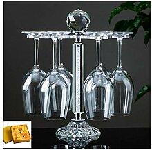 Bbdsj Weinregal Metall Goblet Rack mit