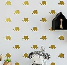 BBH.LEE Das Kinderzimmer Wand_Kinderzimmer Dekoration Umweltschutz Aufkleber, Flash Gold
