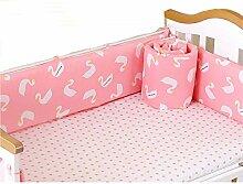 BBLCX Bettumrandung Babybett Bettwäsche Set Für