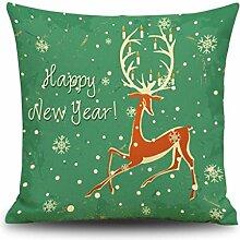 BBLLYY Dekorativen Weihnachten Kissen Bettwäsche