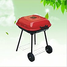 BBQ Grill, Grill, Holzkohlegrill, Tragbarer Klappgrill, 47cm * 47cm * 65cm (5kg)