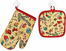 BBQ Handschuhe Pizzaofen Zubehör Ofenhandschuhe