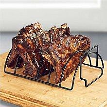 BBQ Ribs Rack, Edelstahl Antihaft-Rippe Grill