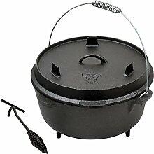 BBQ-TORO DO12 Dutch Oven Topf, Kochtopf aus