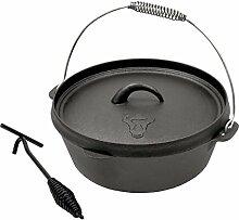 BBQ-TORO DO8 Dutch Oven Topf, Kochtopf aus
