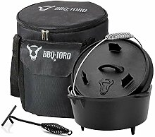 BBQ-Toro Dutch Oven Set 3-teilig I 4.5 QT Dutch