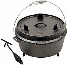 BBQ-TORO Dutch Oven Topf, 6 QT Kochtopf aus