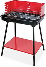 BBQ und Grill – Grill rechteckig rot Rosso ro