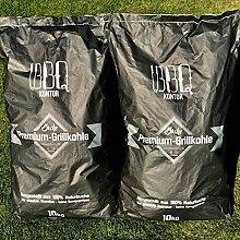 BBQKontor 20kg (2x10kg) Premium Buchenholzkohle -