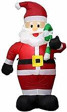 BBQQ aufblasbare Weihnachtsstange Alter Mann