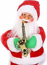 BBQQ Retro animierte Saxophon Musik und Tanz Santa
