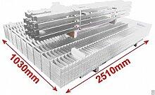 BBT@ / Doppelstab-Mattenzaun Komplett-Set / Verzinkt / 103cm hoch / 12,5m lang / Zaun Zaunanlage Gartenzaun Metallzaun