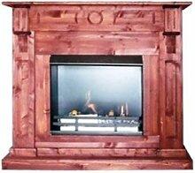 BBT@ / Gelkamin Ethanolkamin Kiefer Dunkel / Für Brenngel oder Bio-Ethanol / BBT-10001030 / Echtes Kamin-Feuer ohne Rauch, Asche oder Staub