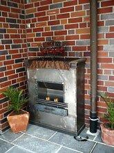 BBT@ / Gelkamin Ethanolkamin Terassenofen Mexico / Für Brenngel oder Bio-Ethanol / BBT-10001130 / Echtes Kamin-Feuer ohne Rauch, Asche oder Staub