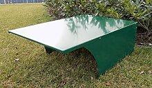 BBT@ Metall-Garage für Rasenmähroboter Grün Pulverbeschichtet / + Montage-Material / Tiefe: 90 cm - Breite: 65 cm - Höhe: 34 cm / Bester Schutz für Ihren Roboter vor Wind Wetter UV-Strahlung