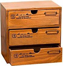 BBYE Aufbewahrungsboxen Holz Mehrschichtige Schubladentyp Storage Box Desktop Kreative Bürobedarf Regale Cosmetic Debris Kabine