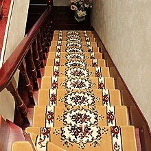BBYE Haushalt Anti-Rutsch Extra Dick Treppe Teppich Solid Wood Free Klebstoff Selbstklebende Step Pad ( farbe : 5 Pieces , größe : 100*24cm )