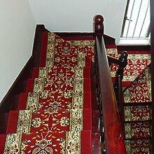 BBYE Massivholz-Haushalt Anti-Rutsch-extra Dicken Schritt Pad Free Adhesive Selbstklebende Treppe Teppich ( farbe : 1 Piece , größe : 75*24cm )