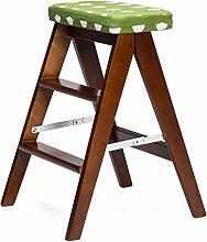 BBYE Stühle Home Portable Hocker Massivholz Klappstuhl Moderne Küche Step Hocker (Farbe Optional) ( farbe : #1 )