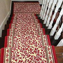 BBYE Viereck Massivholz Selbstklebende Treppenstufen Tretauflagen Haushalt Extra Dick Anti-Rutsch-Teppich Matten ( farbe : 5 Pieces , größe : B-100*24cm )