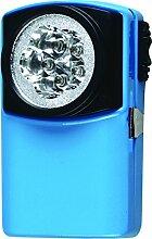bcalpe Taschenlampe Flachmann, blau