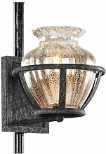 BCYEM Wandlampe Glas Wandleuchte Metall Leuchte