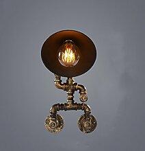 Bcyhh Wandlampe E27 Retro Industrie Design Wandleuchten im Loft-Style Energiesparen Wandlampen Kreative Design Wohnheim Lobby Hotelzimmern Treppen Indoor(Nicht Enthalten Bulb)