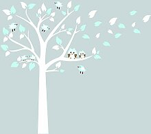 Bdecoll Kinderzimmer Wandtattoo,Baum mit Owls Wand