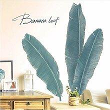 bdpq Bananenbaum Blätter Wandaufkleber DIY