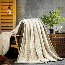 BDUK Die Decke Decken Stereo dicke Decke im Herbst und Winter dick Mittagessen decken Einzelzimmer Doppelzimmer Farbe Teppich