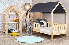 BDW Kinderbett Kinderhaus mit Rausfallschutz