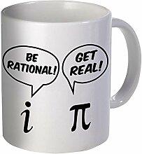 Be Rational, Get Real 11Unzen Funny Kaffee Tasse