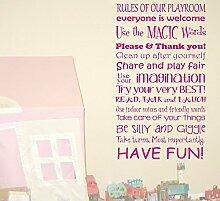 Be Silly & Giggle Spielzimmer Kindergarten Kinder Zitat Wand Kunst Aufkleber DIY Home, Vinyl, Mintgrün, 70x42cm