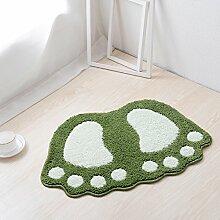 Be&xn Badezimmer Fußabdruck Bereichs-wolldecke,