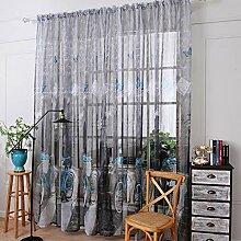 Be&xn Leinen gardinen für Wohnzimmer,