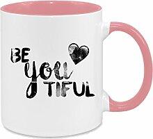 Be You Tiful - hochwertiger Keramik-Kaffeebecher -