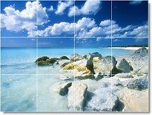 Beach Bild Keramik fliesenwandbild B066. 91,4x 121,9cm mit (12) 12x 12Keramik Fliesen.