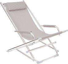 Beach Chair - Liegestuhl - Grau