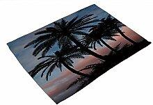 Beach Coco Tisch-Sets Set 4–memorecool Haustierhaus Gesunde Baumwolle Leinen Schöne Landschaft Reinigungstuch Art 43,2x 33cm, baumwolle, coco13, 17x13inch