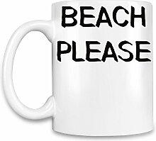 Beach Please Kaffee Becher