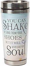 Beach Shake Sand 16 Oz Stainless Steel Travel Mug