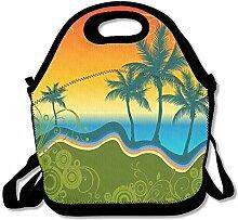 Beach Summer Convenient Lunch Box Tote Bag Rugged