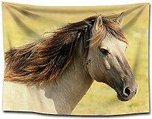 Beach Towel Home Nordic Wildpferd Pferd Kopf