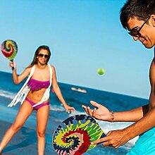 Beachball Set in sommerlichen Farben, 2 Schläger und 1 Ball