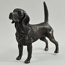 Beagle stehend klein kalt gegossen Bronze Statue Skulptur Hund Pets Geschenkidee 9