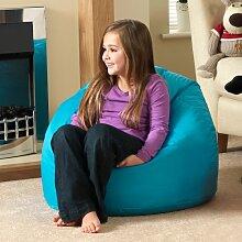 Bean Bag Bazaar Großer Sitzsack für Kinder Aqua 100% wasserabweisend Indoor & Outdoor Riesen Kinder Bean Bag